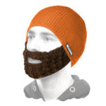 Beanie 'Orange-Braun' - Bartmütze | Beardo